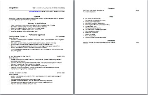 Heavy Equipment Operator Resume Sle by Sle Forklift Operator Resume 28 Images Resume Format