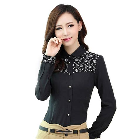 Black Blouse Sleeve Womens by Black Lace Blouse Womens Tops Fashion 2014 Work Wear
