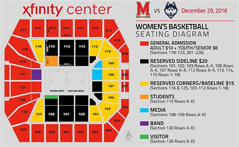 seating charts maryland terrapins athletics university seating charts maryland terrapins athletics university