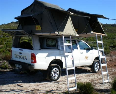 4x4 awnings south africa africer double cab 4x4 with two roof top tents