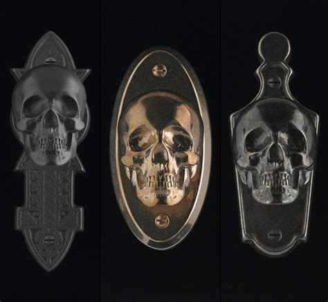 Skull Door Knob by Skull Bronze Backplate Hardware For Doors By Faucetto