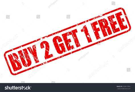 Buy 2 Get 1 Free buy 2 get 1 free st text on white stock vector 232017454