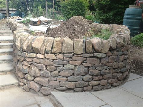stone bed stone inspired dry stone walling garden design and landscaping