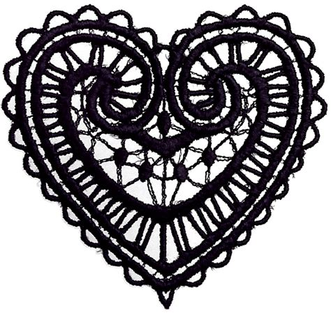 lace pattern vector png graphic vector collection dark lace heart ornaments