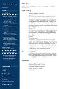 technical support resume template technical support resume sles visualcv resume sles