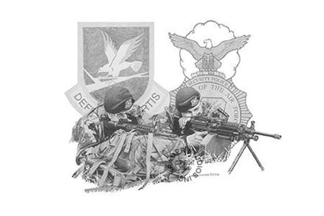 quot air force security forces quot military art prints by kramer