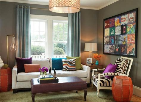 colorful walls living rooms gray walls blue curtains curtain menzilperde net