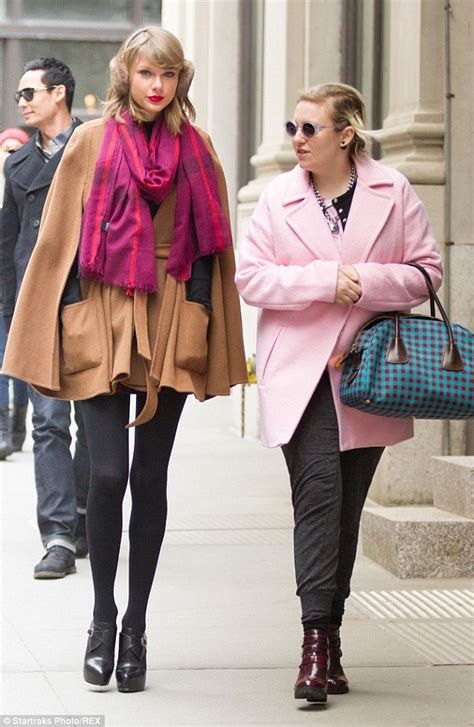 Lyna Scarf and lena dunham brighten up nyc while holding