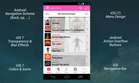 itunes app on android amazing itunes for android app concept images