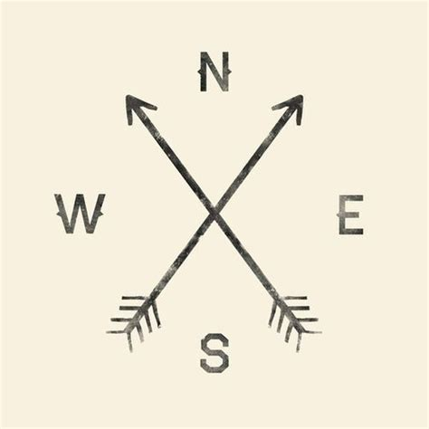 two arrows crossing tattoo meaning compass i like this one since the crossed arrows are an