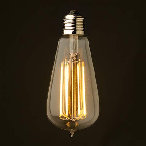 Clear Glass Chandelier 6 Watt Dimmable Lantern Filament Led Clear Edison