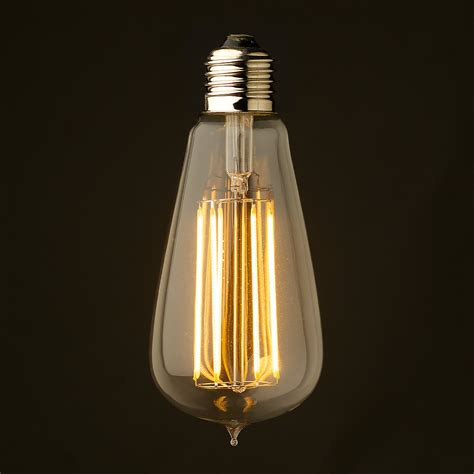 Led Chandelier Light Bulbs 6 Watt Dimmable Lantern Filament Led Clear Edison