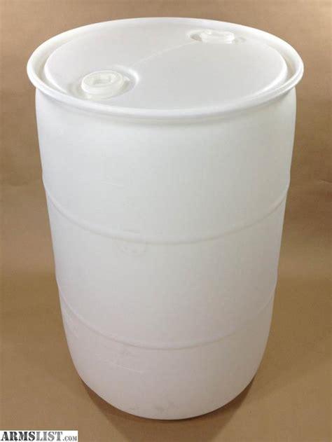 100 Gallon Plastic Barrel - armslist for sale 55 gallon food grade barrels hdpe