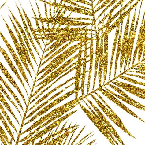 lutece wallpaper glitter trees foliage gold glitter palm leaves white large silhuettes faux