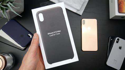 iphone xs max official black leather