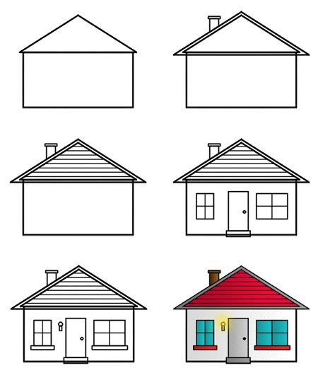 house drawing drawing houses