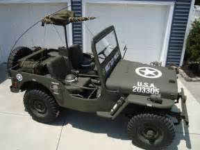 willys jeep 1948 vehicle cj2a army ww2 type w mounted 30 cal jeeps