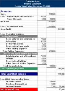 multi step income statement template multi step income statement exle huntercompany png