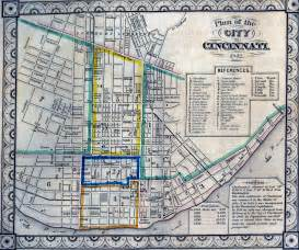 Cincinnati Ohio Map by Cincinnati Historical Maps University Of Cincinnati