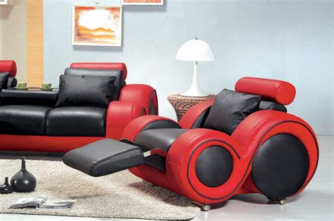 red and black sofa 4088 contemporary black and red sofa set