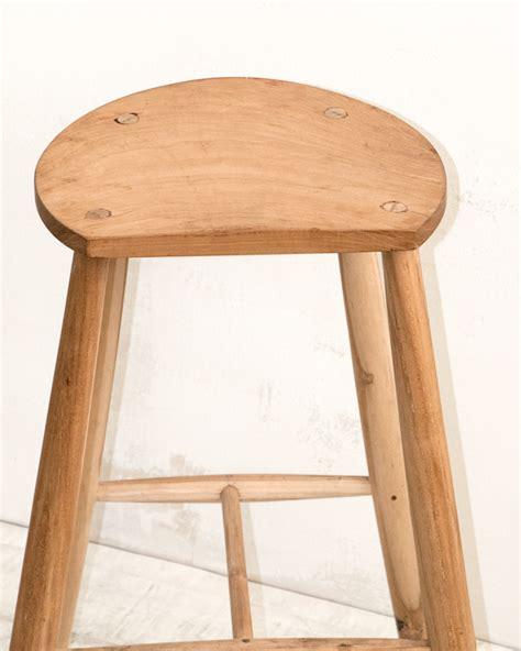 minimal modern wood stool s008