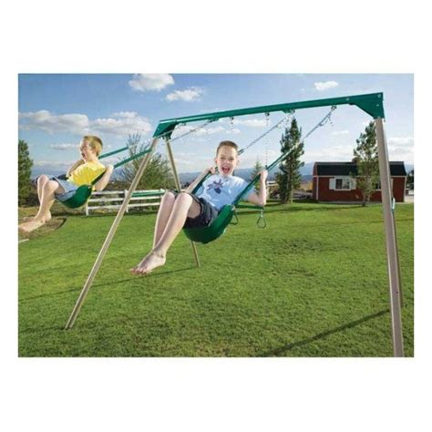 swing set frame kit lifetime heavy duty a frame metal swing set kit