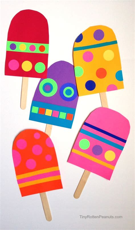 Construction Paper Crafts For Preschoolers - paper popsicle craft construction paper crafts