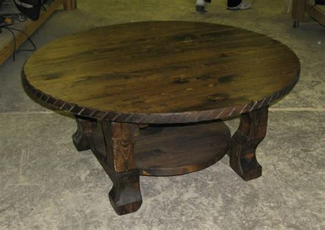 Rustic Wooden Round Coffee Table Rustic Wood And Railroad Rustic End Tables And Coffee Tables