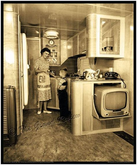 vintage home interior vintage trailer print 1950s schult mobile home interior