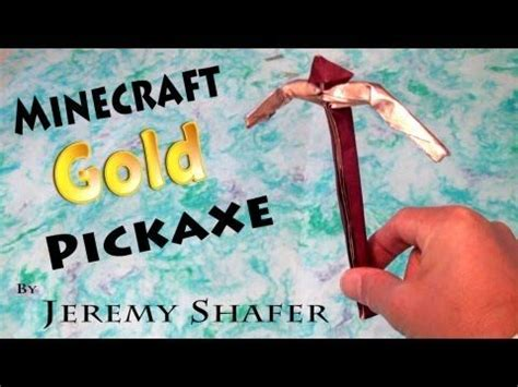 Origami Minecraft Pickaxe - origami gold pickaxe origami toys