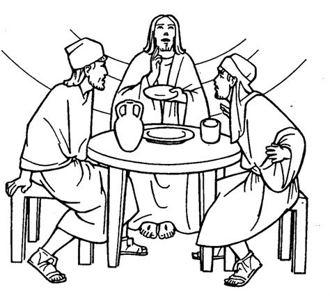 coloring page of jesus on the road to emmaus the disciples of emmaus on the road to emmaus