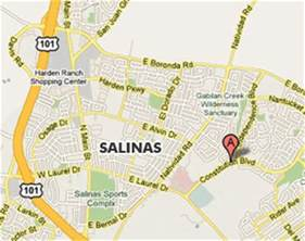 where is salinas california on the map of california image gallery salinas map