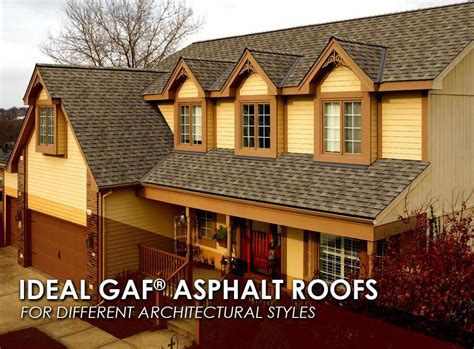 different architectural styles ideal gaf 174 asphalt roofs for different architectural styles