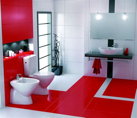 Red Bathroom Decor » Home Design 2017