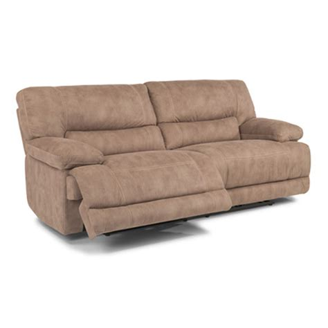 flexsteel reclining sectional flexsteel 1458 62p delia fabric power reclining sofa