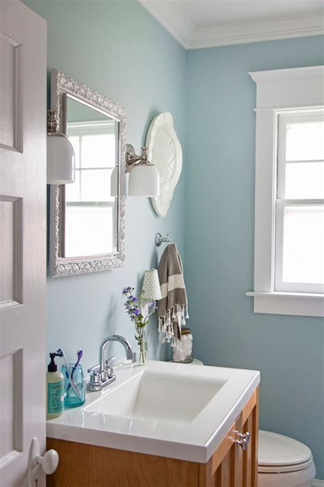 Blue Paint Bathroom a new jersey home restored to its craftsman design