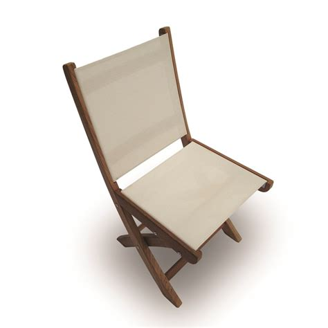 teak sling chair royal teak sailmate sling folding side chair
