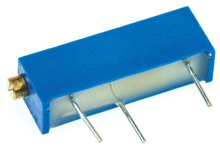 vishay trimmer resistor m43p103kb40 vishay 43p series 20 turn through trimmer resistor with pin terminations