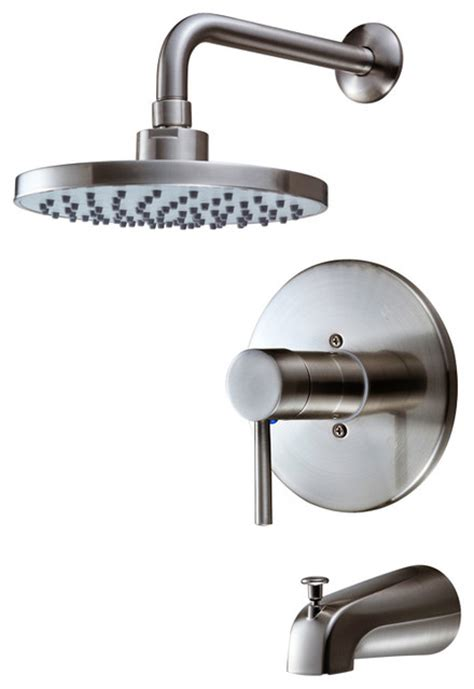 Brushed Nickel Tub And Shower Faucet Set by Sink Faucet Design Single Handle Shower And Tub Faucet