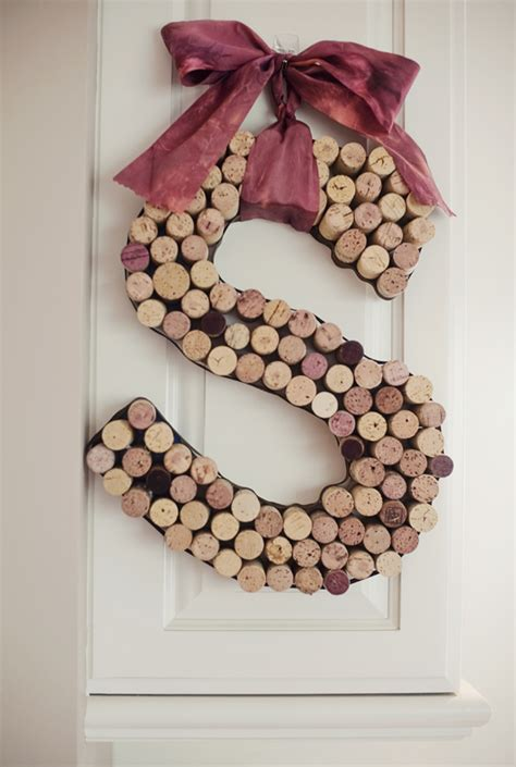Decorative Wine Corks by Diy Decorative Initial Made From Wine Corks Fab You Bliss