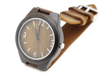 Handmade Leather Watches - wholesale fashion bamboo custom logo we wood wrist
