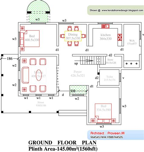 Kerala Home Plan And Elevation 2367 Sq Ft Home Appliance Free House Plans And Elevations In Kerala