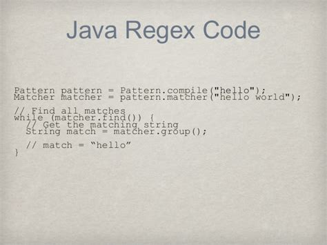 pattern regex in java java regex code pattern pattern