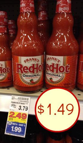 Franks Red Hot Sweepstakes - frank s redhot just 1 49 at kroger