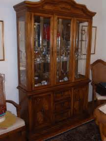 terrific stanley cabinet and hutch with three