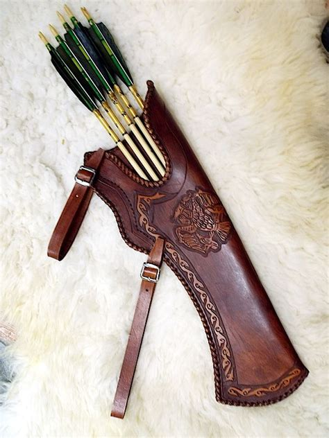 back quiver pattern pin by larp archery on recurve bows leather