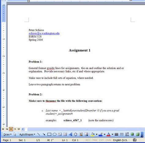 Format Assignments University | assignment guidelines
