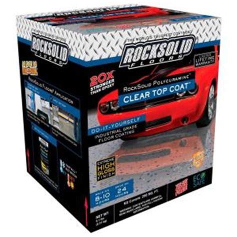 home depot garage paint kit rust oleum rocksolid 1 gal clear polycuramine top coat