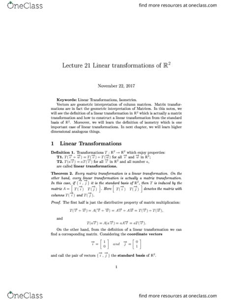 MATH 133 Textbook Notes - Fall 2017, Chapter 21