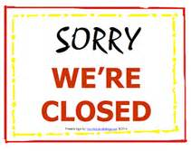 we are closed sign template free printable closed temporary sign